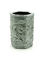 """Подставка для ручек """"Драконы"""" серебро 11х7х8см (27107)"""