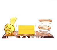 Подставка для ручек и визиток стекло 25,5х8,8х10см (28410)