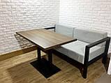 Стол для кафе баров HoReCa с массива дерева ясеня и ножки из металла, фото 3