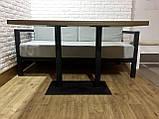 Стол для кафе баров HoReCa с массива дерева ясеня и ножки из металла, фото 4