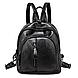 Женский рюкзак из эко-кожи, черный классический рюзак, женский городской рюкзак СС-3682-10, фото 9
