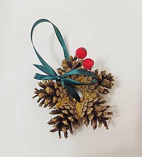 Новогодний декор, ёлочные украшения из натуральных шишек, фото 2