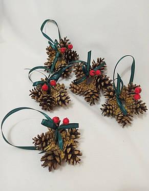 Новогодний декор, ёлочные украшения из натуральных шишек, фото 3