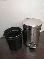 Відро для сміття з педаллю з нержавіючої сталі ZERIX LR70 5 л. глянцеве, фото 1