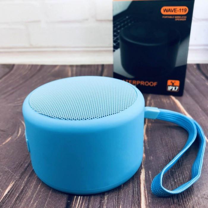 Портативна Bluetooth колонка Bluetooth JEDEL Wave-119 Синя