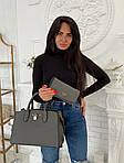 Женская сумка 2в1, экокожа PU (серый), фото 2
