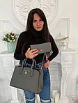 Женская сумка 2в1, экокожа PU (серый), фото 3