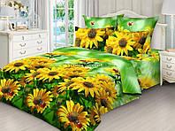 Бязь для постельного белья Жёлтые ромашки 3Д 220 см