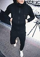 Мужской теплый спортивный костюм Некст Черный, фото 1