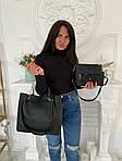 Женская сумка 4в1, экокожа PU (чёрный), фото 2