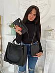 Женская сумка 4в1, экокожа PU (чёрный), фото 3