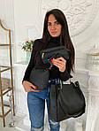 Женская сумка 4в1, экокожа PU (чёрный), фото 4