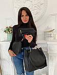 Женская сумка 4в1, экокожа PU (чёрный), фото 5