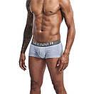 Трусы боксеры Seeinner серого цвета с серой резинкой, фото 4