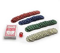 Покерный набор в блистере колода карт+60 фишек 12х32х5см (19307)