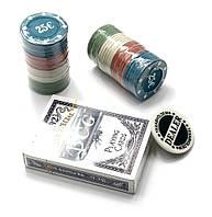 Покерный набор в блистере колода карт,48 фишек 24,5х10х4см (25180)