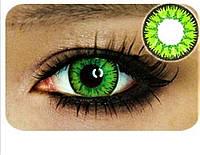 Яркие зеленые линзы. Цветные контактные линзы. Зеленые линзы с черным ободком. Салатовые линзы. Цветные линзы