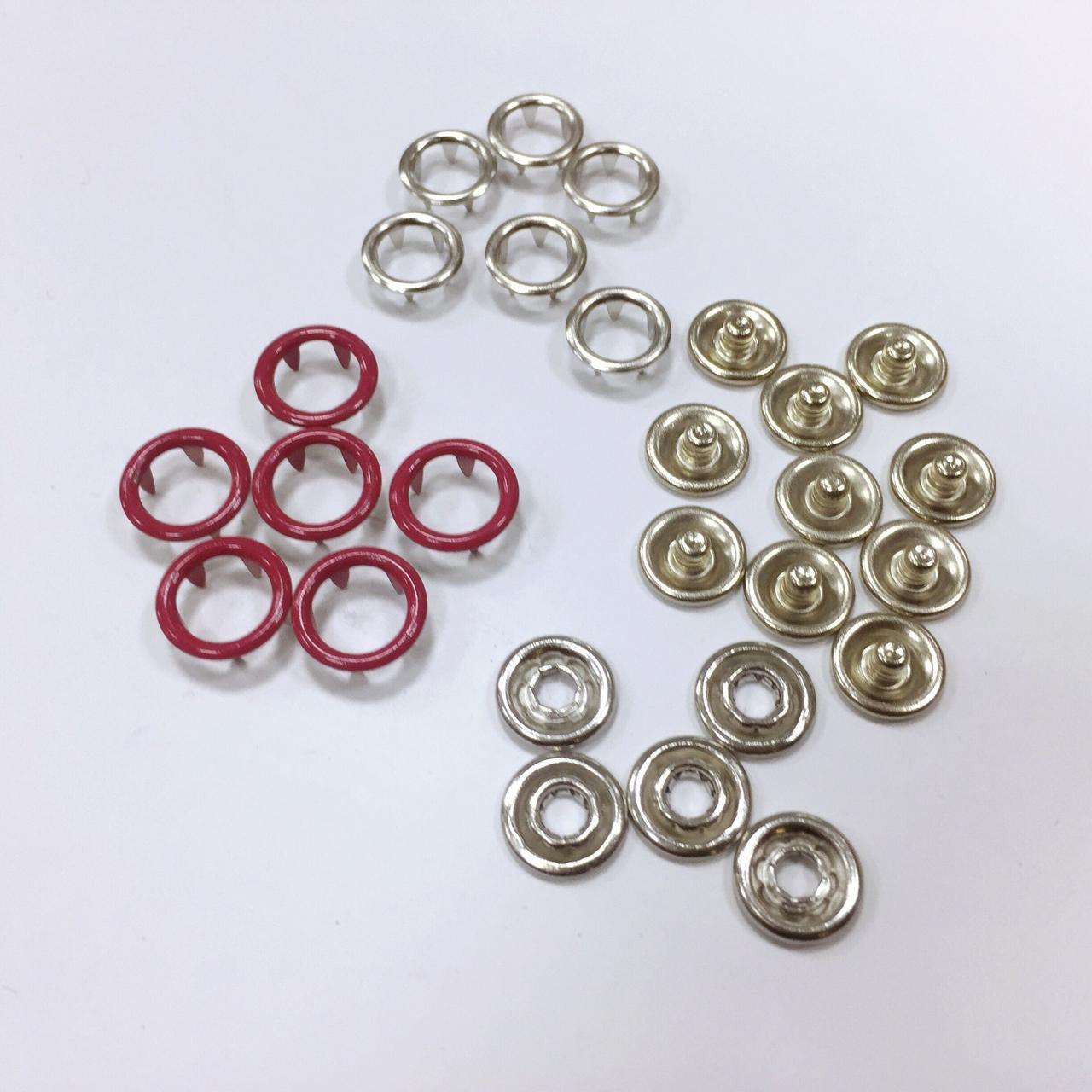 Кнопка рубашечная нерж 10,5мм кольцо цв малиновый (уп 144шт)