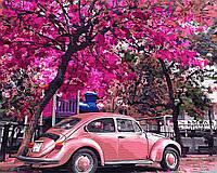 Картина за номерами Brushme Картина за номерами Brushme Картина за номерами Brushme Цветущая парковка    набір для розпису, фарби та пензлі  набір для