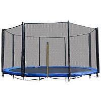 Защитная сетка для батута 12 фт 366-374 см, 8 столбиков, внешняя, фото 1