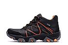 Мужские зимние кожаные ботинки IceField Gore-Tex Black реплика, фото 5