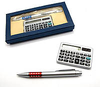 Ручка с калькулятором набор 17х9х2см (24624)