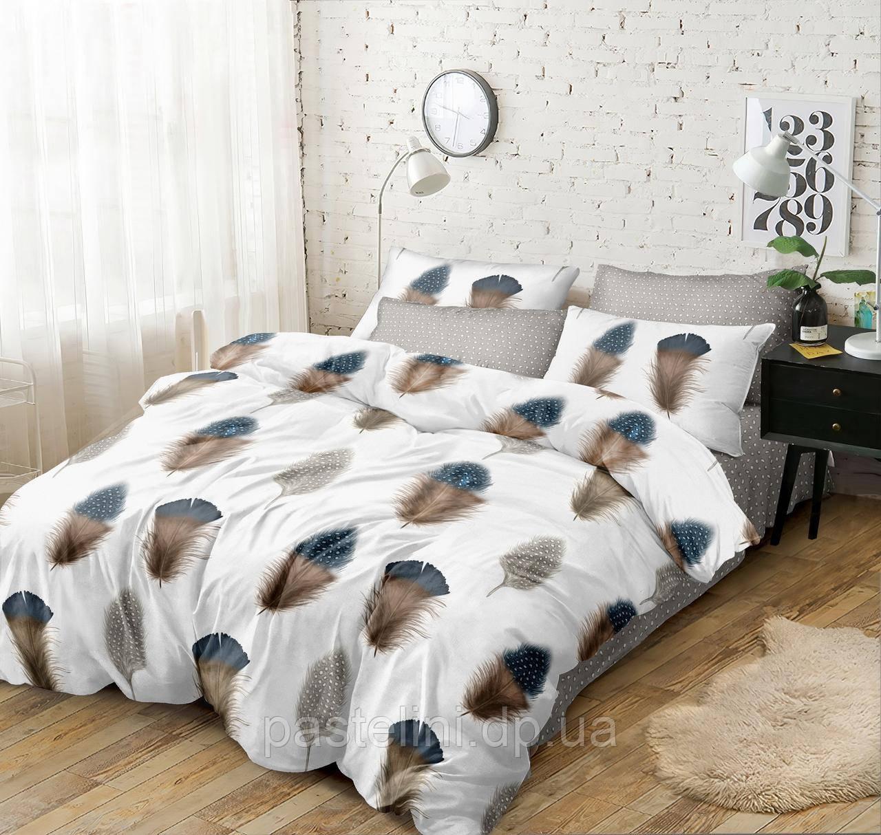 Комплект постельного белья Love you поплин полуторный   203016