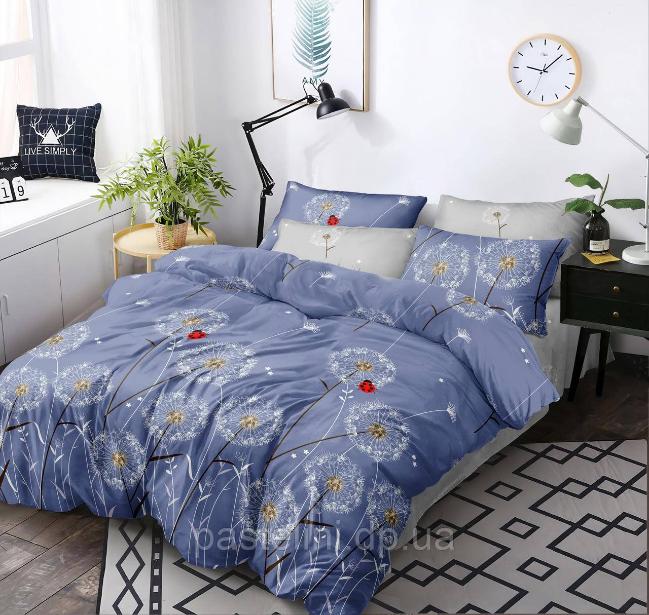 Комплект постельного белья Love you поплин двуспальный 203017