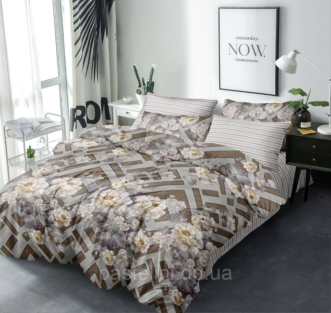 Комплект постельного белья Love you семейный поплин    203021