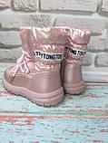 Детские розовые зимние луноходы на девочку, фото 3