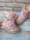 Детские розовые зимние луноходы на девочку, фото 4