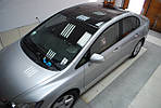 НАШИ РАБОТЫ: Honda Civic 4D (создание эффекта панорамной крыши)