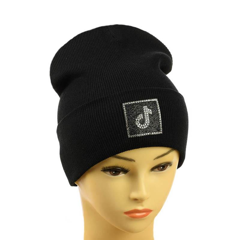 """Детская шапка """"Tik-Tok"""" черный"""