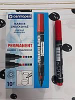 Маркер перманентный Centropen Permanent 1-4.6 мм скошенный Красный (8576/02)