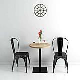 Круглые столики для кафе HoReCa и ресторанов из массива дерева, опоры из металла, фото 4