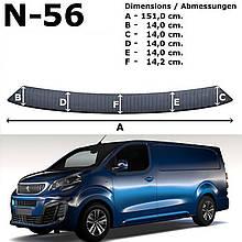 Пластикова накладка заднього бампера для Peugeot Expert lll L3 5.3 m (з 2 задніми дверима) 2016+