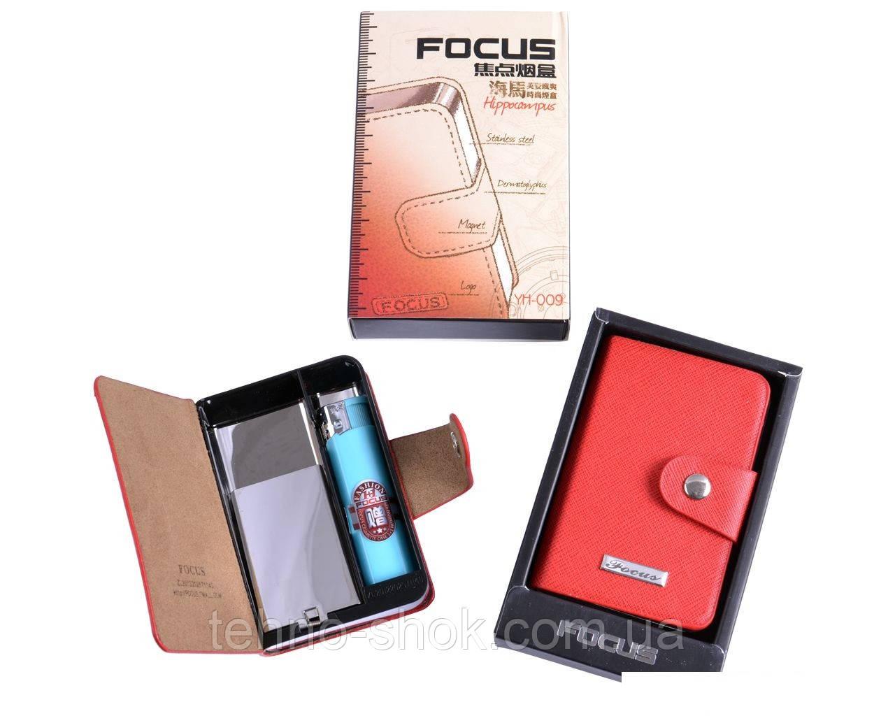Портсигар в подарунковій упаковці на 10 сигарет з запальничкою №3754-2