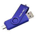 OTG USB Flash накопитель 32 GB Nuiflash Синий, фото 2