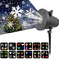 """Лазерний проектор на будинок """"Новорічні фігури"""" AL-38"""