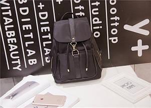 Жіноча сумка - рюкзак HiFlash Чорна ✔, фото 3