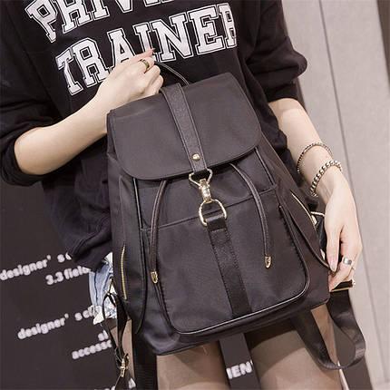 Жіноча сумка - рюкзак HiFlash Чорна ✔, фото 2