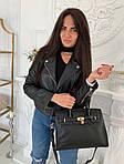 Женская сумка, экокожа PU (чёрный), фото 5