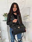 Женская сумка, экокожа PU (чёрный), фото 4