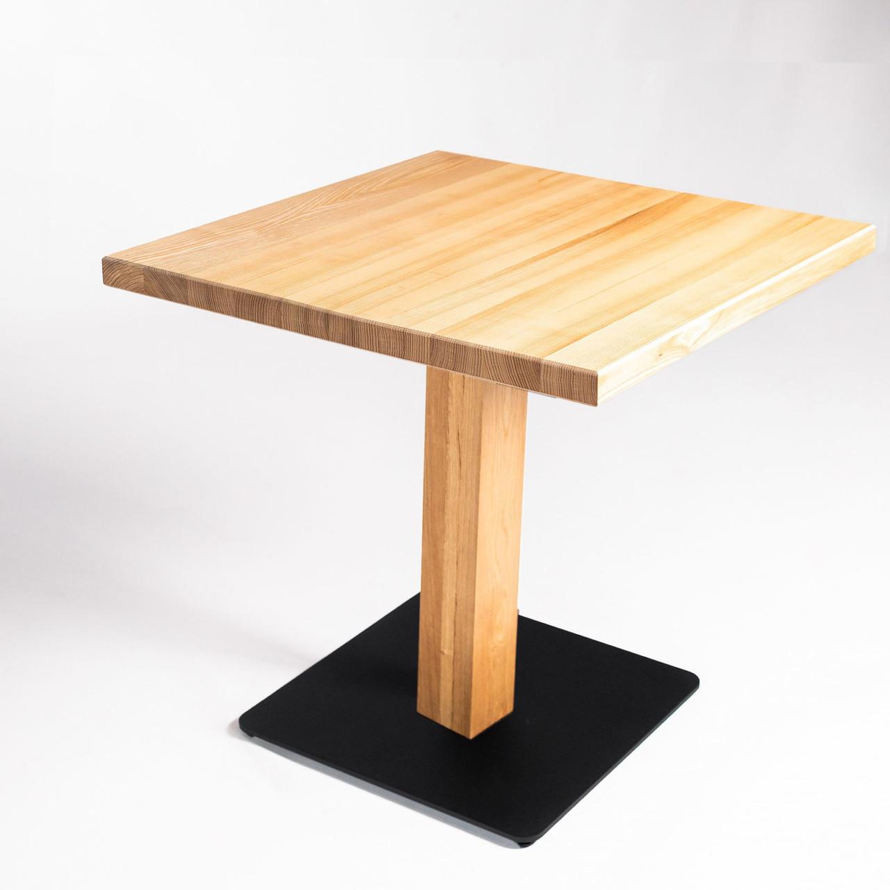 Дерев'яні столики для кафе HoReCa і ресторанів з масиву дерева, опори з металу