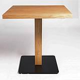 Деревянные столики для кафе HoReCa и ресторанов из массива дерева, опоры из металла, фото 4