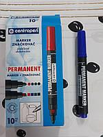 Маркер перманентный Centropen Permanent 1-4.6 мм скошенный синий (8576/02)