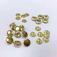 Кнопка L-10 цв золото сталь 10мм (уп 72шт)