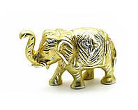 Слон резной алюминий 19х10,5х6см (25819)