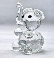 Слон хрустальный 6х4х4см (18332)