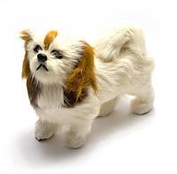 Собака искуственный мех (15х13х6см)